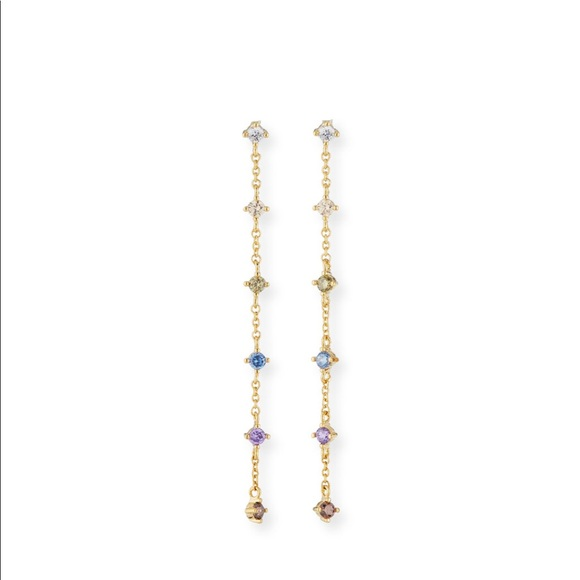 Tai Jewelry - Rainbow dangling earrings